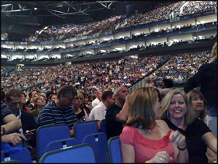 O2 Arena i London før en Duran Duran-koncert