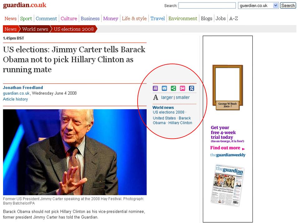 Fikse ikoner hos The Guardian
