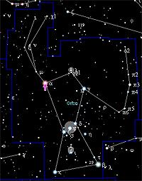 Betelgeuse i Orion